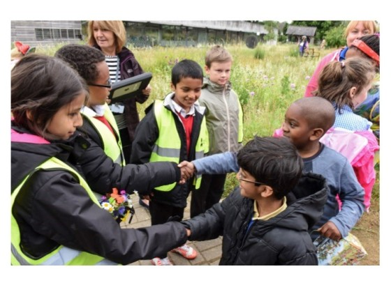 Liverpool and Manchester children swap wildflowers